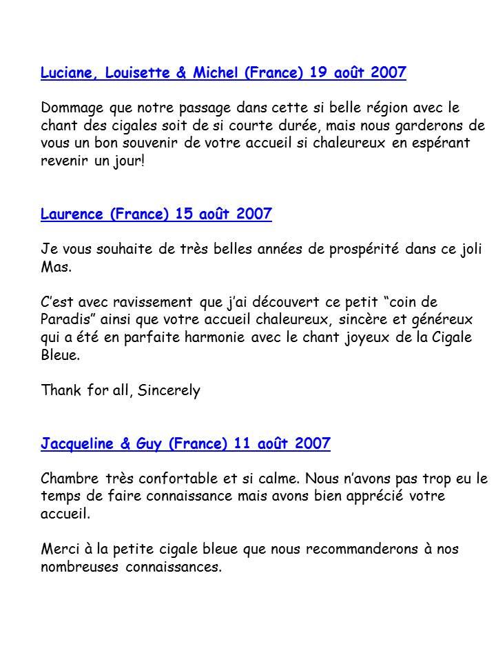 Bloog Présentation Cigale bleue Livre d'or 17 43