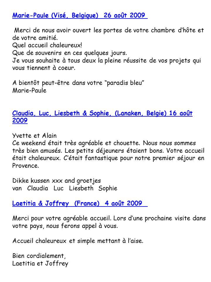 Bloog Présentation Cigale bleue Livre d'or 5 43