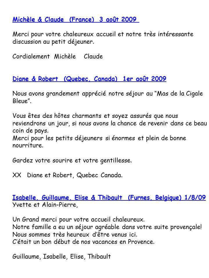 Bloog Présentation Cigale bleue Livre d'or 6 43