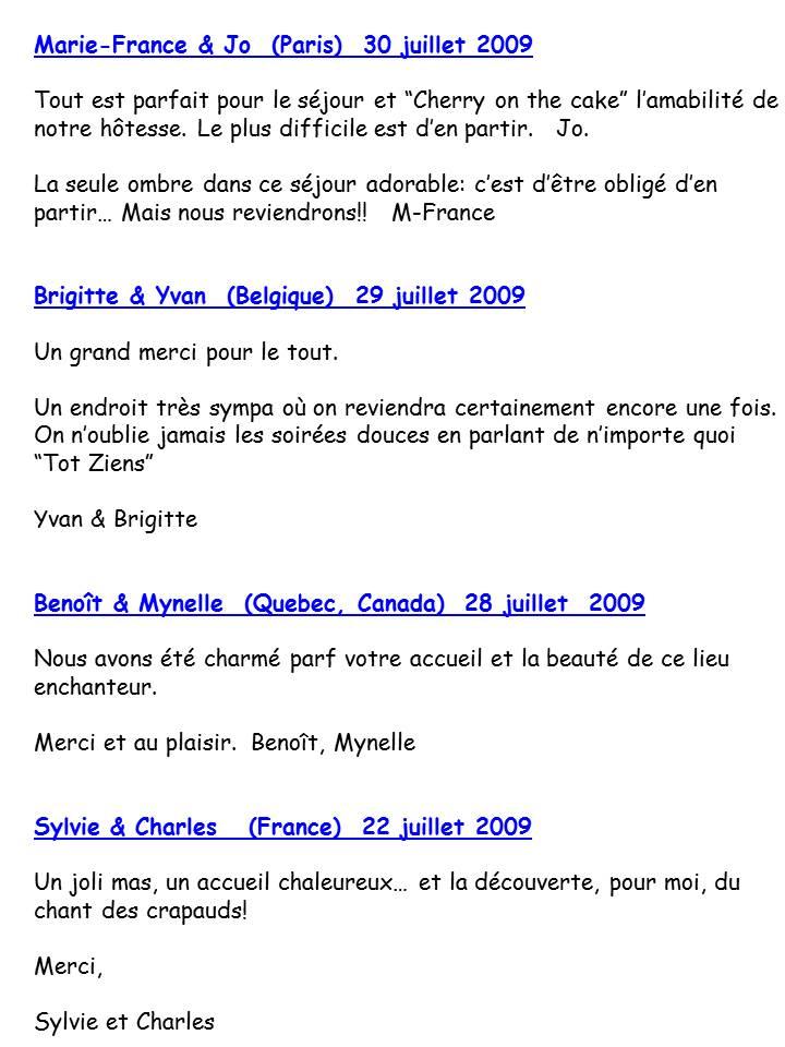Bloog Présentation Cigale bleue Livre d'or 7 43